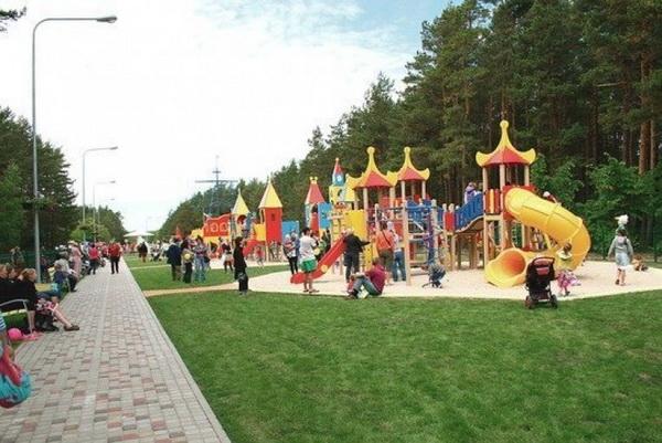 Детский парк в Паланге.