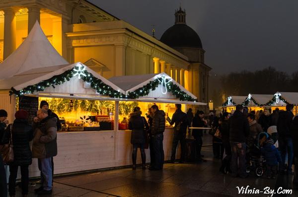 Рождественский городок в Вильнюсе, 2015 год