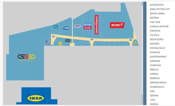 План торгового центра NØRDIKA