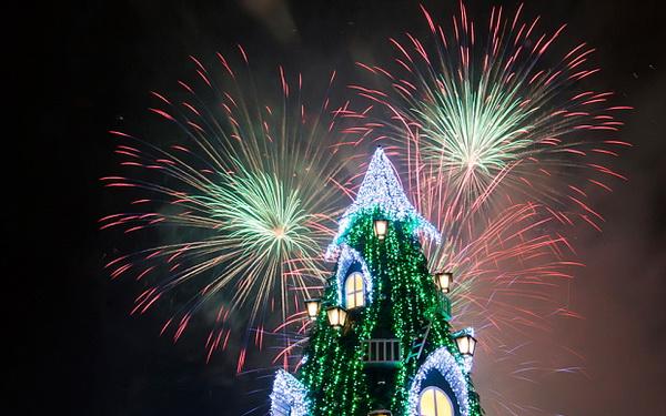 Фейерверк в Вильнюсе на 2015-2016 Новый год
