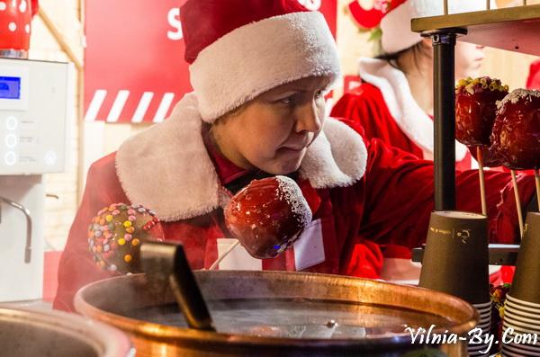Рождественский городок в Вильнюсе на Кафедральной площади, 2017 г.