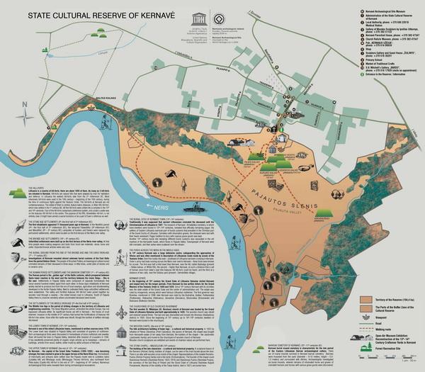 Схема археологического резервата Кярнаве (кликабельна до неприличного размера)